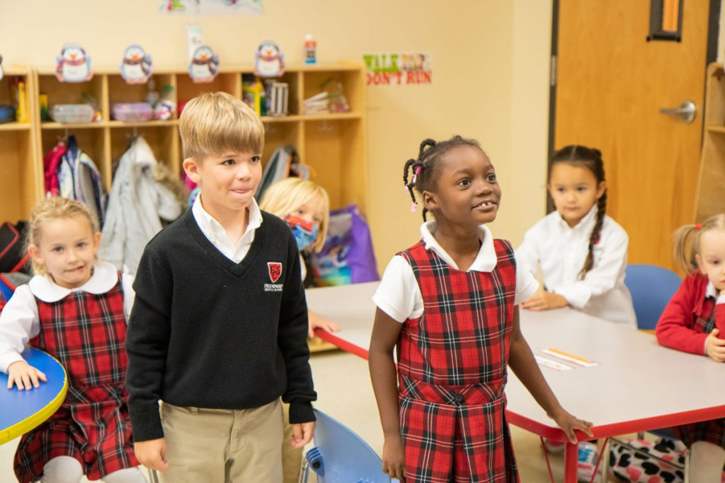 kids in christian elementary school